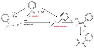 Beckmann rearrangement - beckmann rearrangement mechanism acetophenone oxime