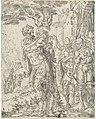 Achior vastgebonden aan een boom Judit en Holofernes (serietitel), RP-P-OB-7309.jpg