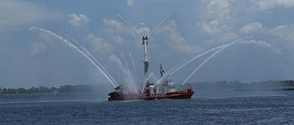 Fireboat - Toronto Fireboat WL Mackenzie demonstrating its capabilities