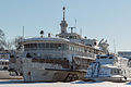 Admiral Kuznetsov in Winter at Moscow North River Port-Front View 10-feb-2015.jpg