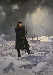 Painting (1886) of Adolf Erik Nordenskiöld during his exploration of Arctic regions. Georg von Rosen (1843 - 1923)