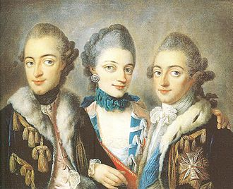 Duchess Christiane of Mecklenburg - Christiane with her brothers Ernest (left) and Adolphus (1766)