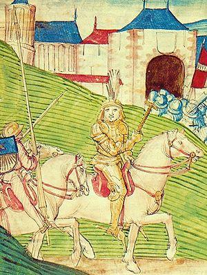 Adrian von Bubenberg - Adrian von Bubenberg on horseback (Diebold Schilling the Elder)