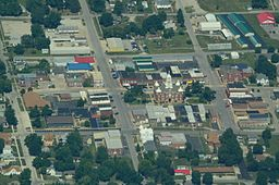 Aerial view of Savannah, Missouri 9-2-2013.JPG