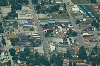 Savannah, Missouri - Aerial view of Savannah, Missouri