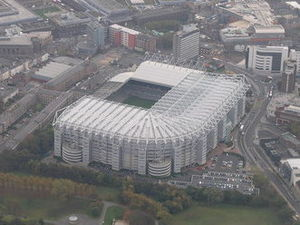 St James' Park - Image: Aerial view of St James Park geograph.org.uk 472327 (cropped)