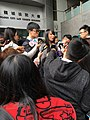 Agnes Chow at Kowloon City Magistrates' Court at 11-44 on February 12, 2016.JPG