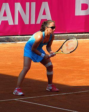 Ágnes Szatmári - Agnes Szatmari at the 2012 BCR Open Romania Ladies
