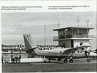 Air Botswana - Air Botswana BNB 6382 in year 1981
