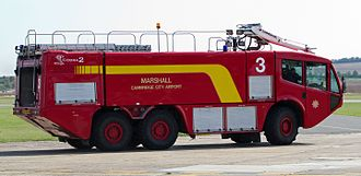 Carmichael (manufacturer) - Fire tender at Cambridge Airport in September 2011