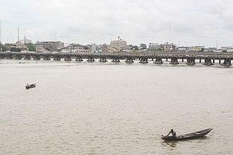 Cotonou - Bridge in Cotonou.