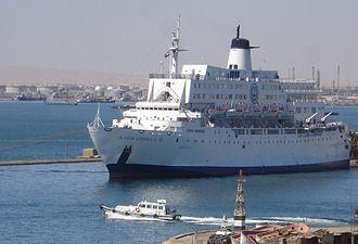 Suez Port - El Salam Carducci 82 ship docked at Suez port, March 2006