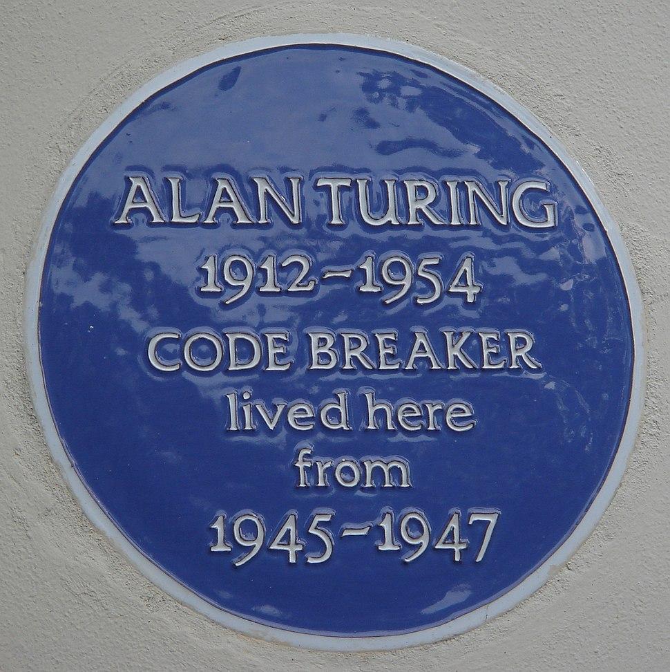 Alan Turing 78 High Street Hampton blue plaque