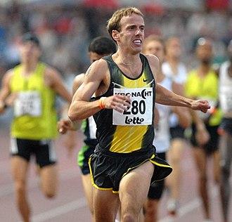 Alan Webb (runner) - Webb at the KBC Night of Athletics in 2007