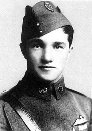 Flying ace - Albert Ball, Britain's first famous flying ace. He was killed in 1917, aged 20.