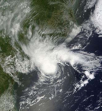 2012 Atlantic hurricane season - Image: Alberto May 19 2012 1610Z