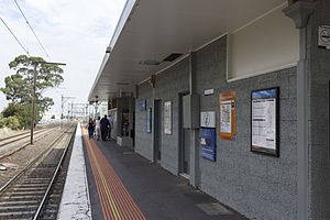 Albion railway station, Melbourne - Image: Albion railway station platform 1, 2013