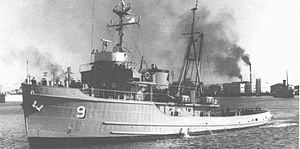 ARA Alférez Sobral (A-9) - Sobral shortly after joining Argentina's Navy
