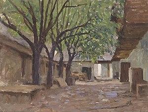 Alfred Zoff - Image: Alfred Zoff Bauernhäuser bei Klagenfurt 1905