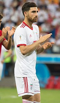 Alireza Jahanbakhsh at IRNPOR match 2018 FIFA World Cup 02.jpg