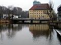 Aller vor der Hafenstraßenbrücke und der Ratsmühle in Celle.jpg