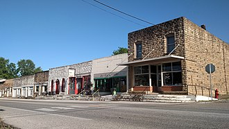 Alpena, Arkansas - Streetside in downtown Alpena