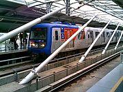 Trem da Linha 5 do Metrô de São Paulo.