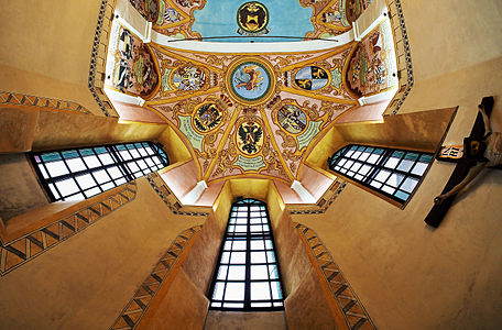 Altar ceiling of St. George's Chapel, Ljubljana Castle
