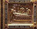 Altare di s. ambrogio, 824-859 ca., retro di vuolvino, storie di sant'ambrogio 11 ambrogio presenzia i Funerali di San Martino.jpg