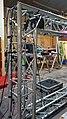 Aluminium box trussing at Hatfield Broad Oak, Essex, England 1.jpg