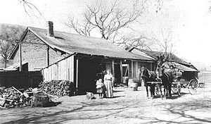 Rancho Santa Rita - Kroeger family at the Alviso Adobe (circa 1900)