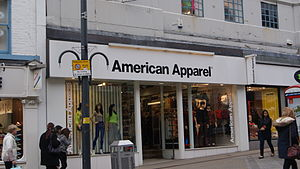 American Apparel - American Apparel branch on Briggate in Leeds.