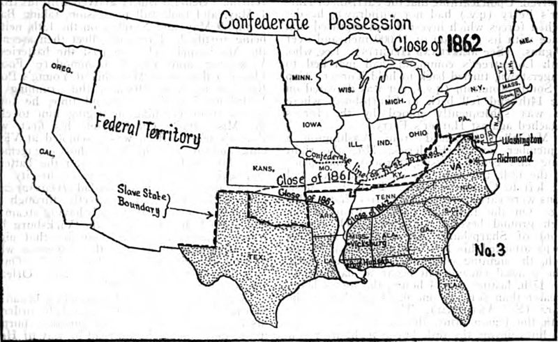 Blank Map Of America During The Civil War - Blank map of us before civil war