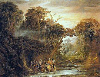 Pikysyry maneuver - Passagem do Chaco, oil on canvas by Pedro Américo