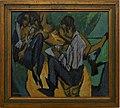 Amsterdam - Stedelijk Museum - Ernst Ludwig Kirchner (1880-1938) - Skizzierder Künstler mit zwei Frauen - Künstlergruppe (A 4767) 1913.jpg
