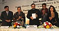Anand Sharma releasing a book at the inauguration of the Tex- Trends India 2012, in New Delhi on January 19, 2012. The Secretary of Ministry of textile, Smt. Rita Menon is also seen.jpg