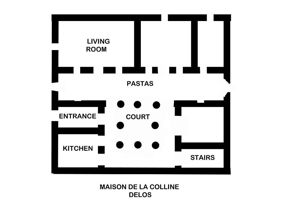 Ancient Greek plan House of Colline Delos