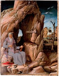 MANTEGNA Andrea St. Jerome in the Wilderness 1448-1451(?)