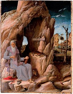 St. Jerome in the Wilderness (1448-51) São Paulo Museum of Art. The earliest known painting by Mantegna.