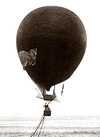 The Eagle balloon sails north from Svalbard in July, 1897.