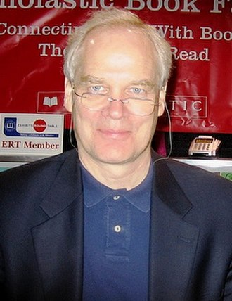 Andrew Clements - Clements at a Scholastic book fair in 2008