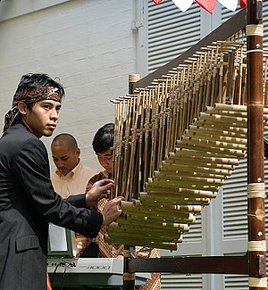 Angklung - Angklung as a Masterpiece of Oral and Intangible Heritage of Humanity.