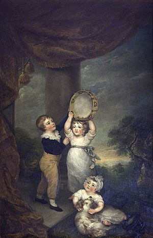 Thomas Anson, 1st Viscount Anson - Anne Margaret Coke, Viscountess Anson, Thomas William Anson, Anne Margaret Anson, and George Anson, as Children, Shugborough Hall, National Trust