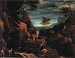 Annibale Carracci, The Vision of Saint Eustace, Capodimonte.JPG