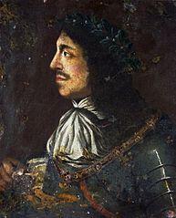 Portret Jana II Kazimierza w wieńcu laurowym