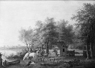 Heste vandes ved en sø