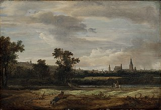 Landscape with a View Towards a Town