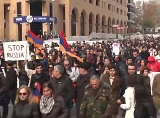 Anti-Russian sentiment - Anti-Putin protest in Yerevan, 2 December 2013