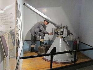 Anti-submarine gun, Merseyside Maritime Museum.jpg