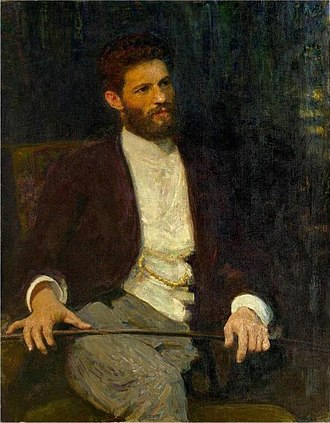 Mark Antokolsky - Portrait by of Antokolsky by Ilya Repin, 1914